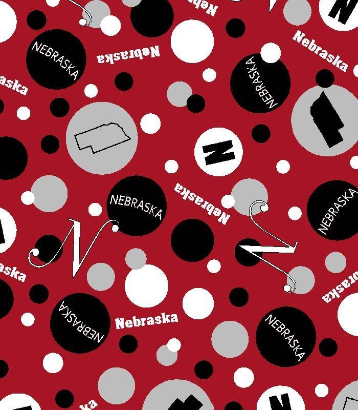 Nebraska Dots Red