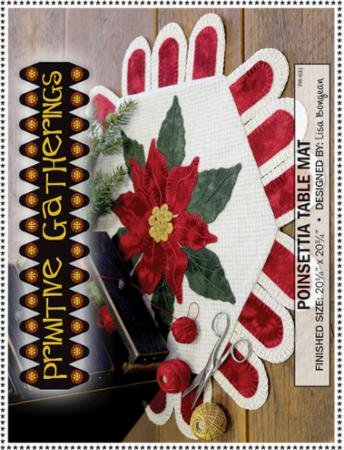 Poinsettia Table Mat Wool Kit
