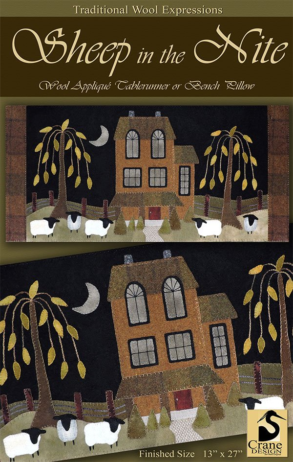 Sheep in the Nite Wool Applique Kit