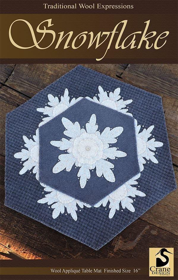 Snowflake Wool Applique Kit