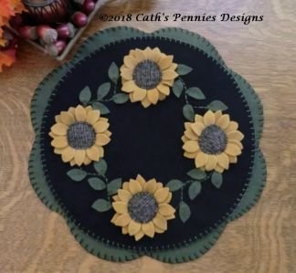 Sunflowers Felt Penny Mat Kit