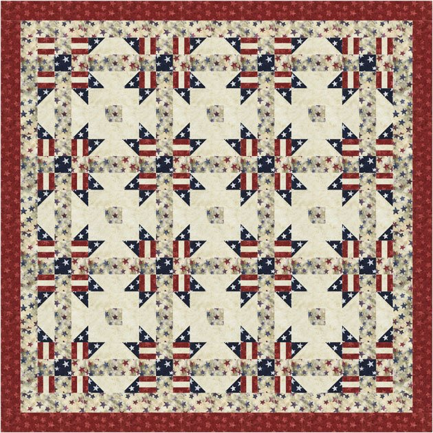 America Reclaimed Cotton Quilt Kit