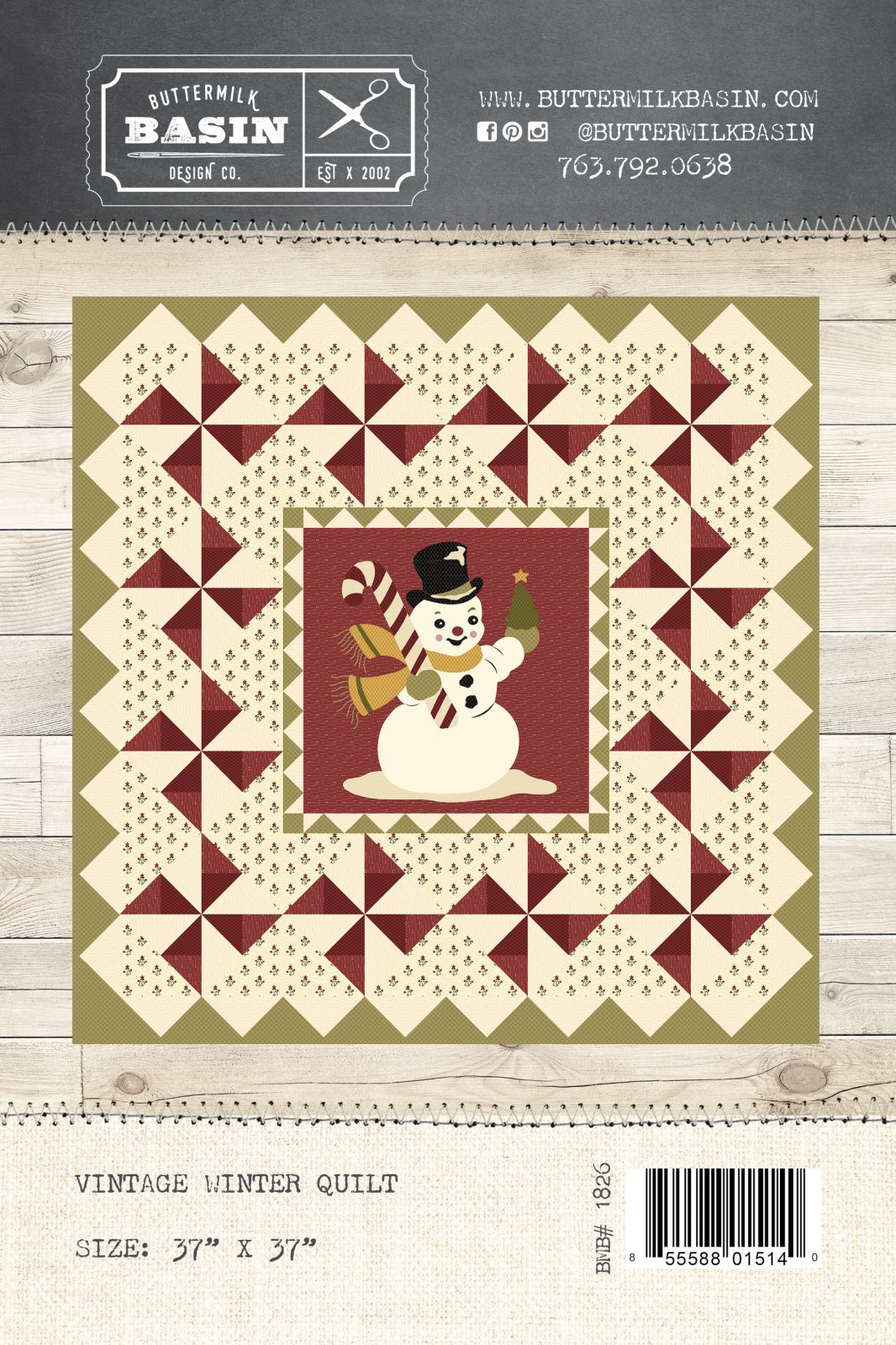 Vintage Winter Quilt Kit