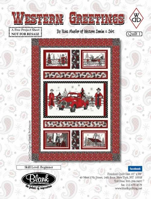 Western Greeting Quilt Kit