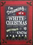 White Christmas Wool Applique Kit