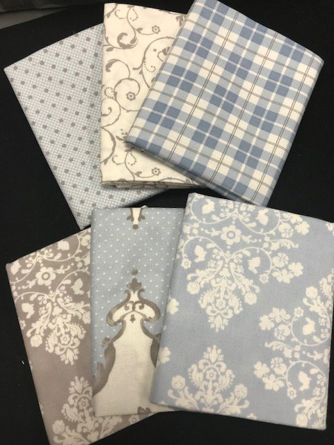 Blue Fat Quarter Assortment from Lily and Will Revisited
