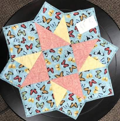 Butterfly Fabric Table Topper