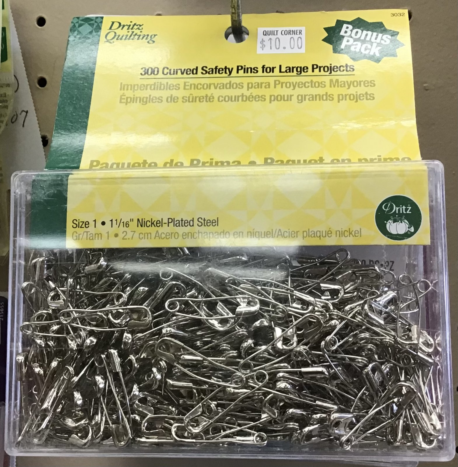 Dritz Curved Safety Pins for Large Projects