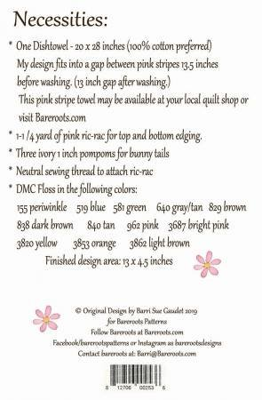 Easter Dishtowel and Pattern Kit
