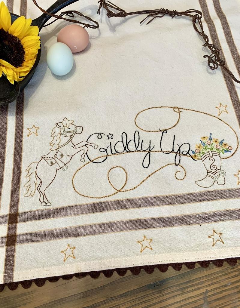 Giddy Up Dishtowel Pattern and Kit