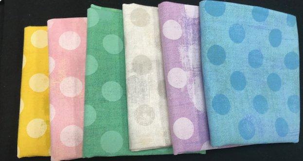 Fat Quarter Assortment from Grunge Dots - Pastels