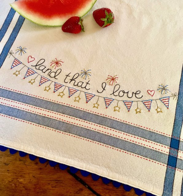 Land That I Love Embroidery Pattern and Kit
