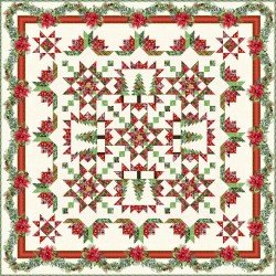 A Poinsettia Winter Quilt