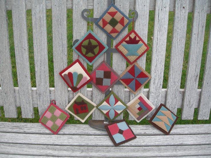 Under the Garden Moon - Quilt Ornaments