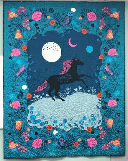 Crescent Magic Unicorn Digital Panel by Sarah Watts