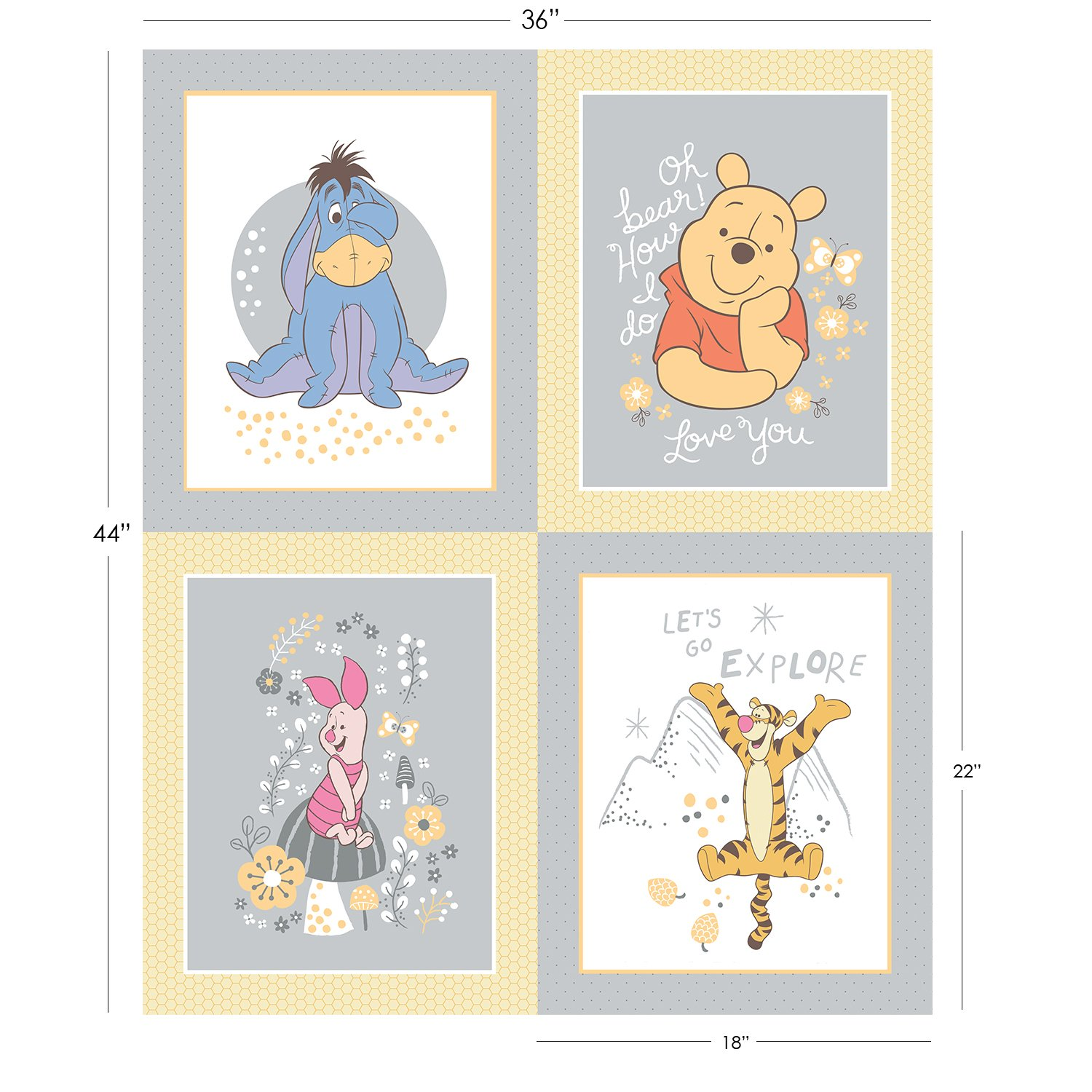 Winnnie the Pooh Character Panel
