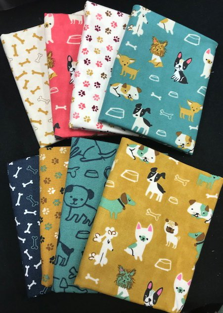 Fat Quarter Assortment from Woof Woof Meow - Dogs