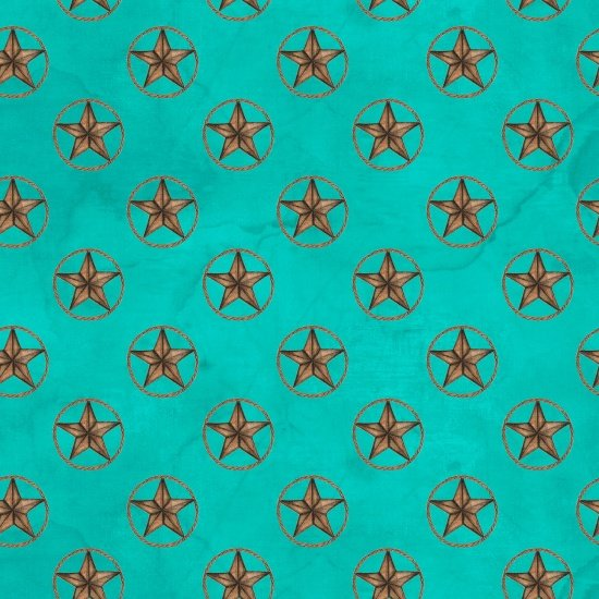Home On The Range ~ Teal Star