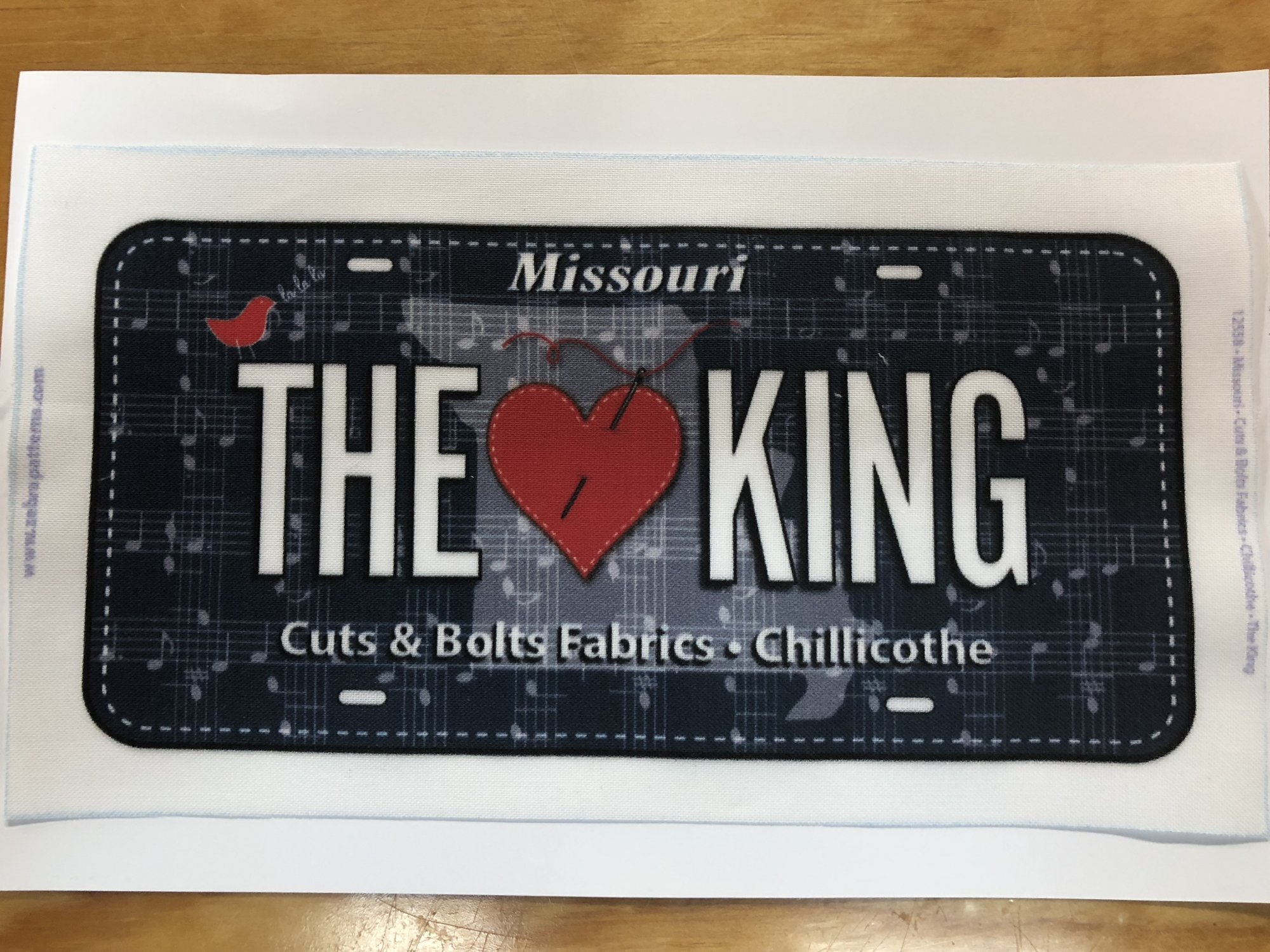 2018 ~ The King ~ License Plate