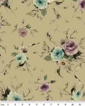 Interlude Little Flower Sage  Benartex