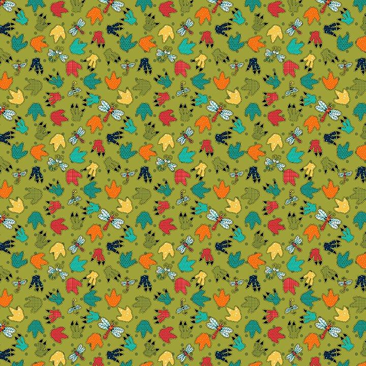 Paw Print Green