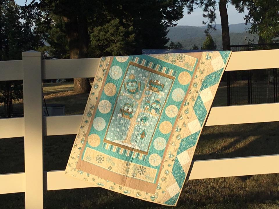 Hoot Flannel Quilt Sample