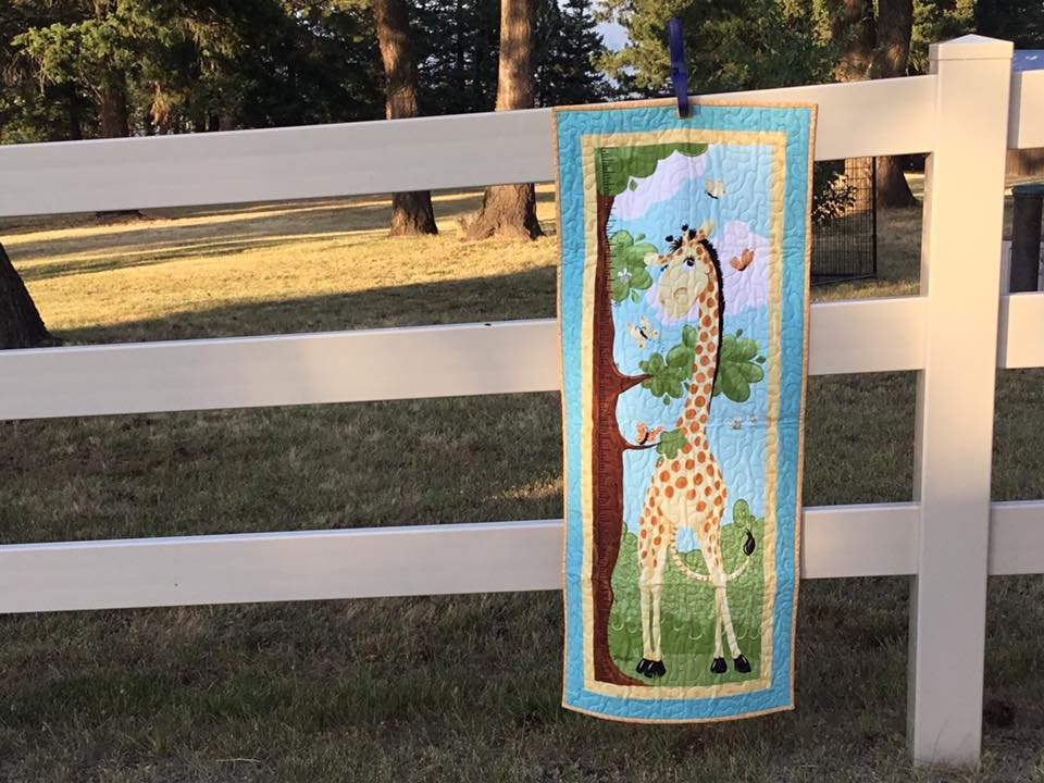 Giraffe Growth Chart Wallhanging Sample
