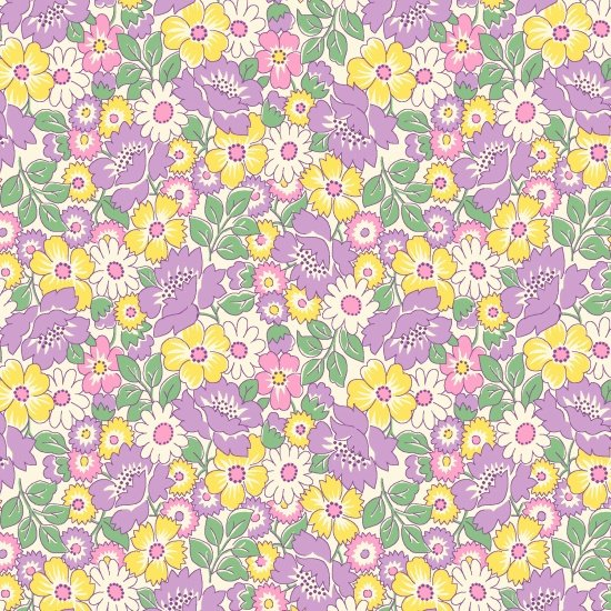 Packed Floral Purple