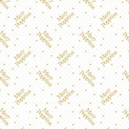 White Mary Poppins Polka Dot w/Metallic