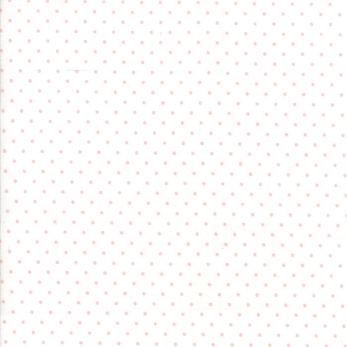 Moda Dots White & Baby Pink