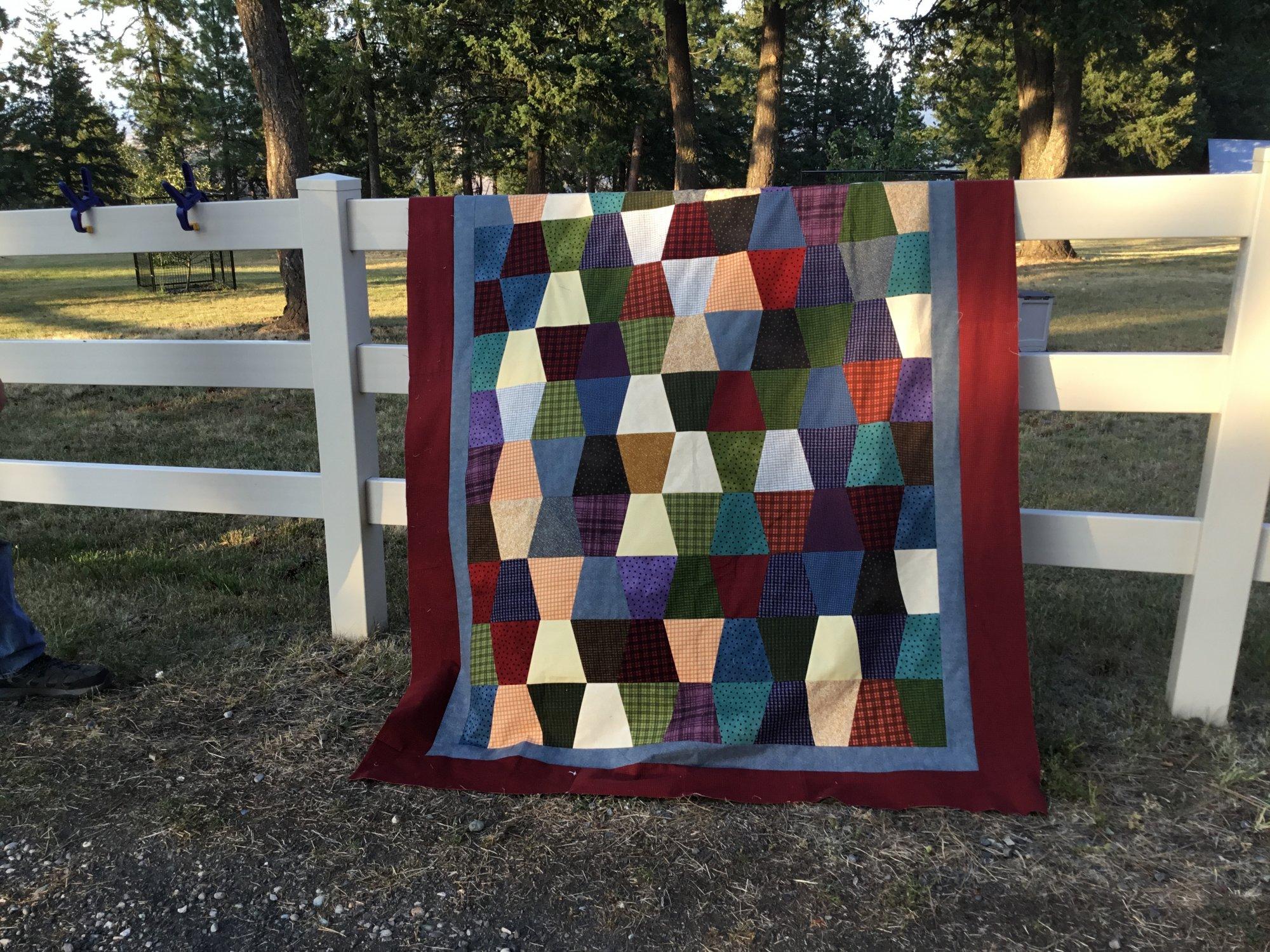 Tumbler Flannel Quilt Kit