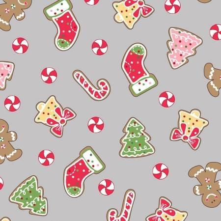 Grey Christmas Cookies