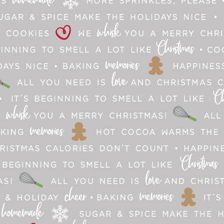 Grey Holiday Baking Phrases