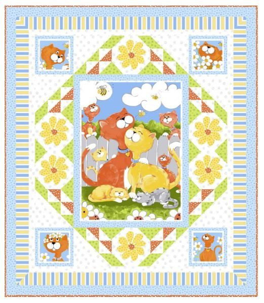 Purfect Kitty Quilt Sample