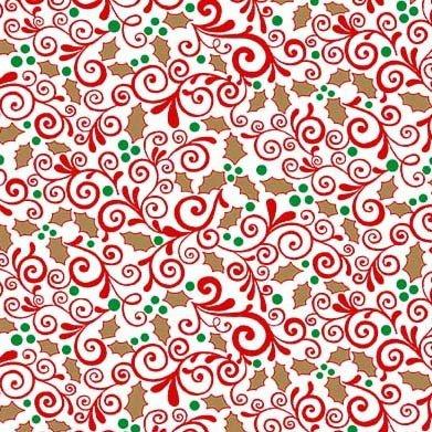 Vintage Holidays Sparkle Holly