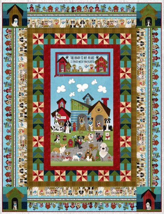 Home Dog Quilt #1