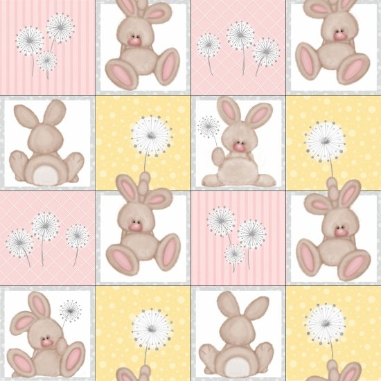 Pink Bunny Squares