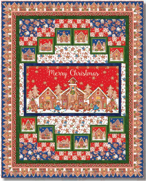 Gingerbread Factory Quilt Kit