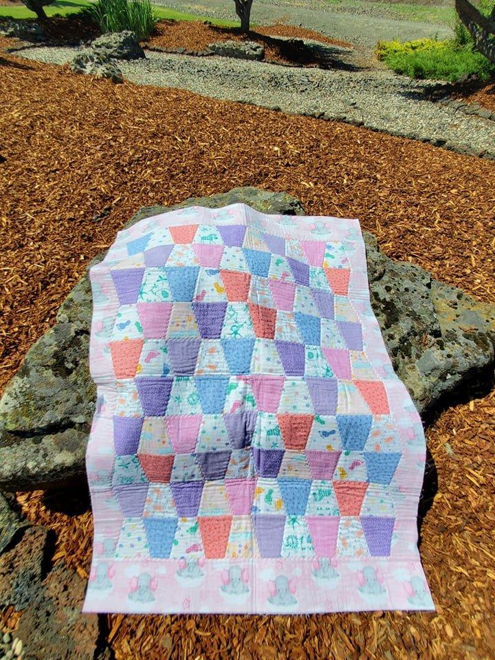 Girls Flannel Tumbler Quilt Kit