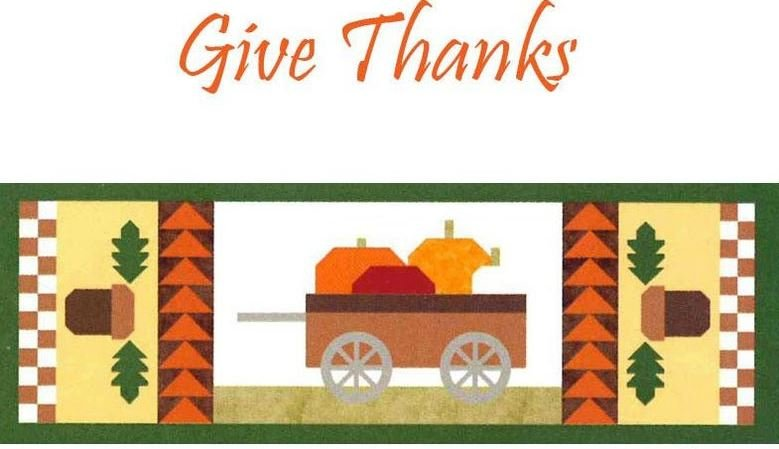 Table Runner of the month October Give Thanks