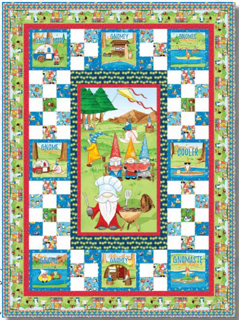 Hangin' With My Gnomies Quilt Kit