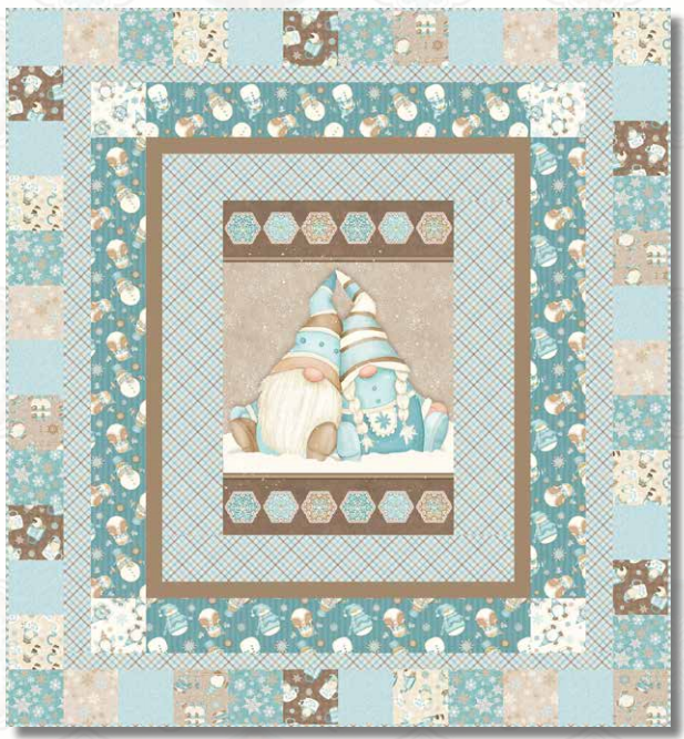 I Love Sn'Gnomies Flannel Quilt Kit