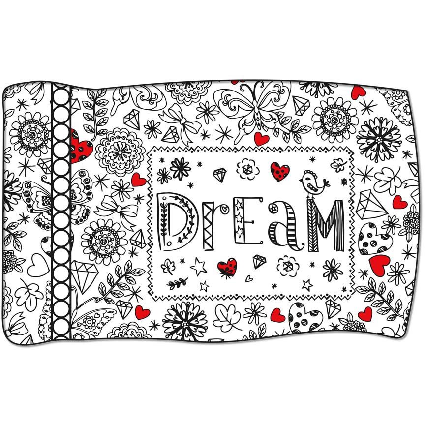 Panel #84 Dream Crayola Coloring Pillow