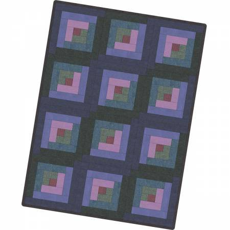 12 Block Log Cabin Quilt Texture Illusion