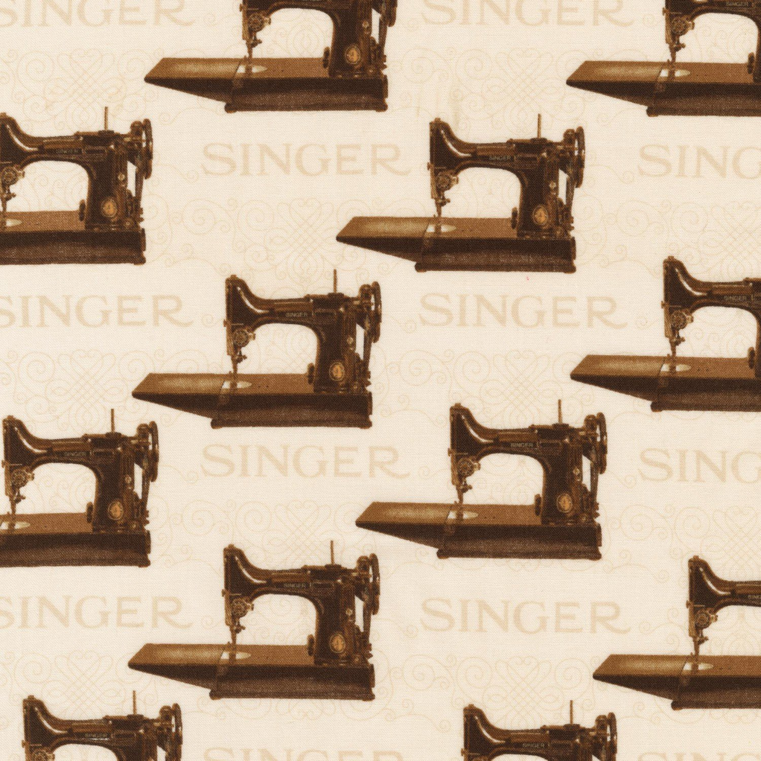 Antique Singer Sewing Machines Sepia Featherweight