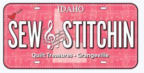 Sew Stitchin License Plate