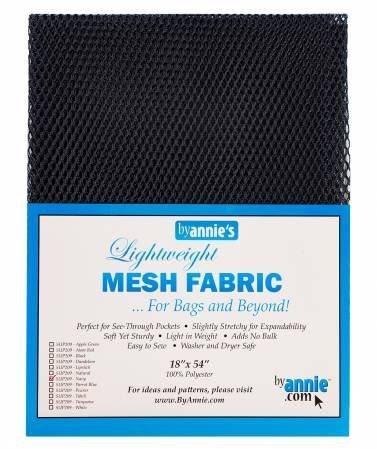 Lightweight Mesh Fabric - Black - 18x54in