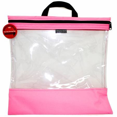 See Your Stuff Bag 16in x 16in Pink