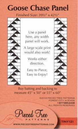 Pieced Tree Goose Chase Panel