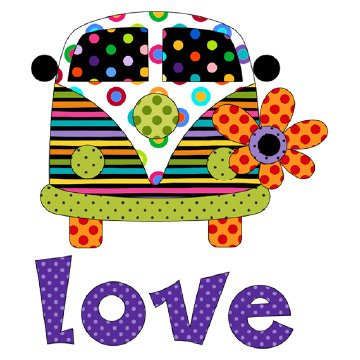 Love Bus Applique Set